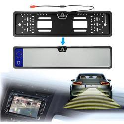Wasserdicht Europäischen License Plate Kamera Auto Auto Reverse Rearview 12LED Nachtsicht Cam platte