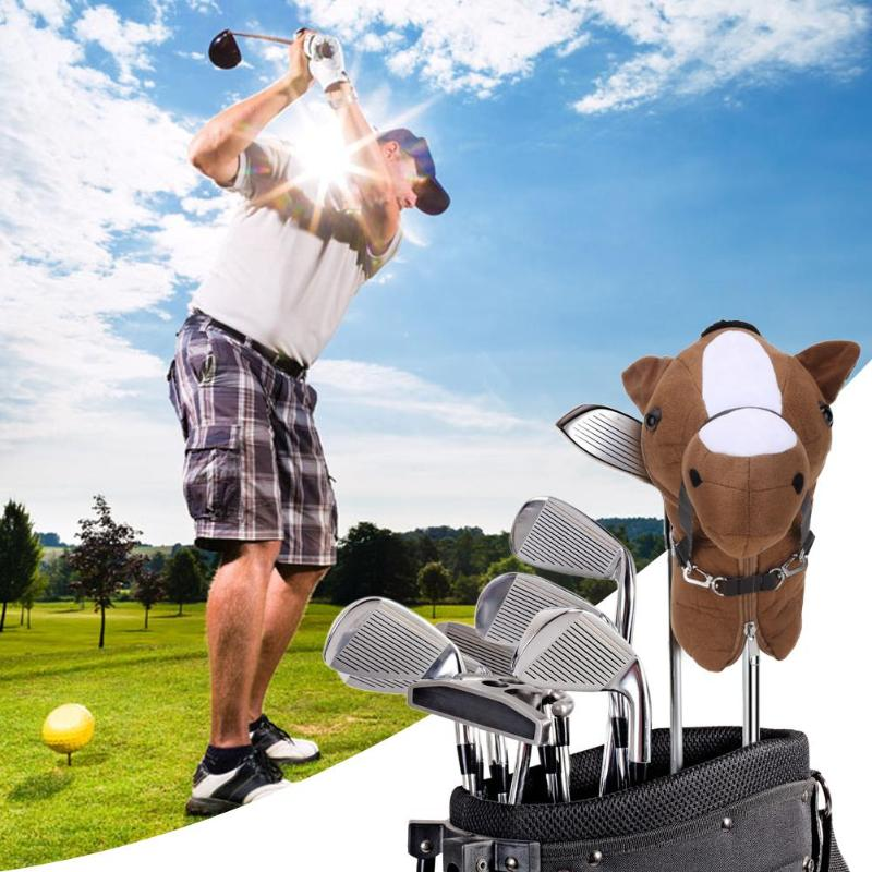Animal Fleece Golf Club Head Protective Cover for 460cc No.1 Driver Wood Cartoon Golf Club Head Cover Protective Head Cover Tool