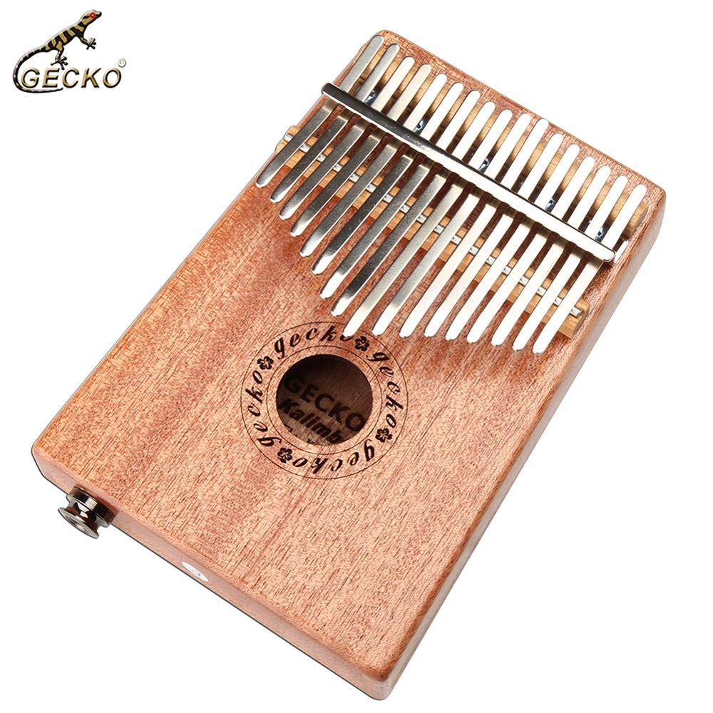 GECKO 17 clés Kalimba acajou pouce Piano Mbira Kalimba ensemble + mélodie marteau en bois massif clavier Instrument de musique K17MEQ