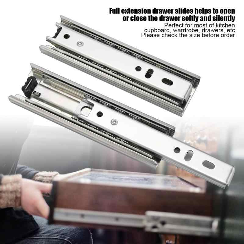 2pcs 5in Steel Drawer Slide Track Rail Sliding Furniture Keyboard Slides Full Extension Soft Close Cabinet Cupboard Runner Linear Guides Aliexpress