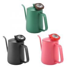 Водяной чайник 600 мл из нержавеющей стали, чайник с гусиным носиком и термометром, Новинка