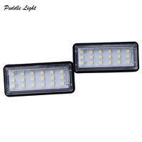 white light car 2x 18smd Car styling No Error LED White rear number plate light auto lamp For Lexus GX470 LX470 LX570 Toyota Land Cruiser 120 (4)
