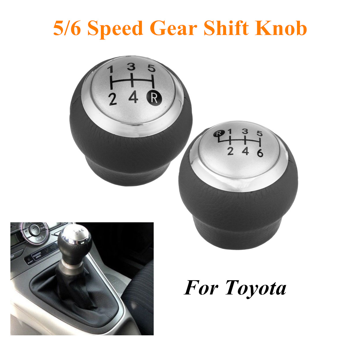 Ford White V8 Logo Shift Knob Handle Polished Aluminum Custom Cane Stick