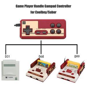 Image 5 - חם Wired 8 קצת טלוויזיה אדום ולבן מכונת משחק וידאו נגן ידית Gampad בקר עבור Coolboy עבור Subor עבור NES משחק משחק