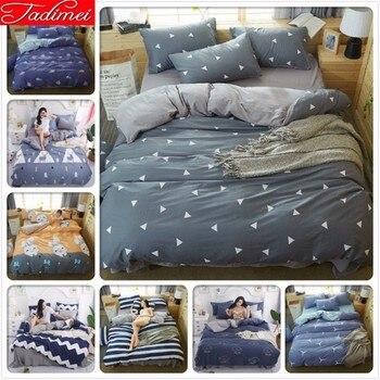 100% Wash Cotton Duvet Cover 3/4 Pcs Bedding Set Adult Kids Soft Bed Linen Single Twin Full Queen King Size Bedspreads Bedlinens