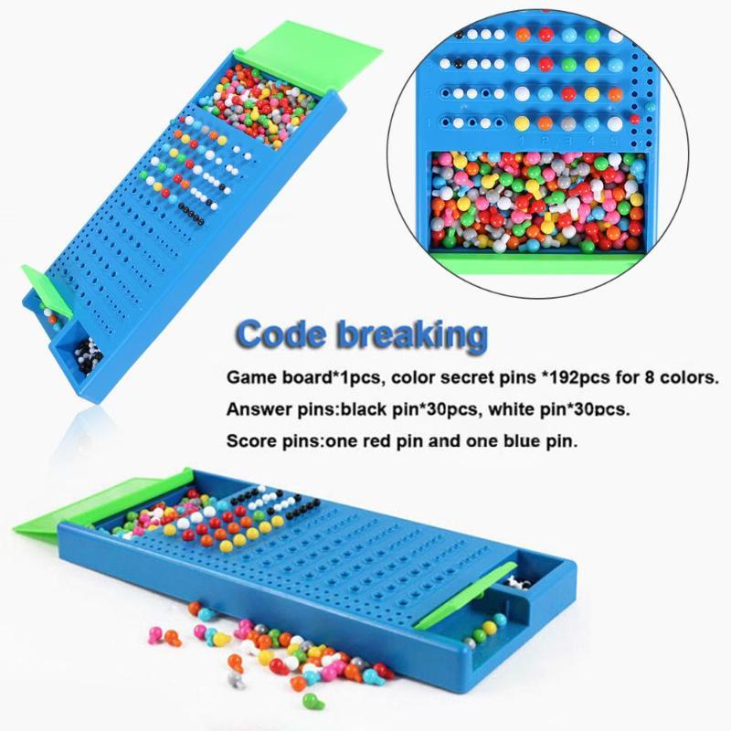 Capacidade Lógica Puzzle Game Master Quebrar o Código da família Brinquedos Educativos Desenvolvimento Intelectual Inteligência Engraçado Mastermind