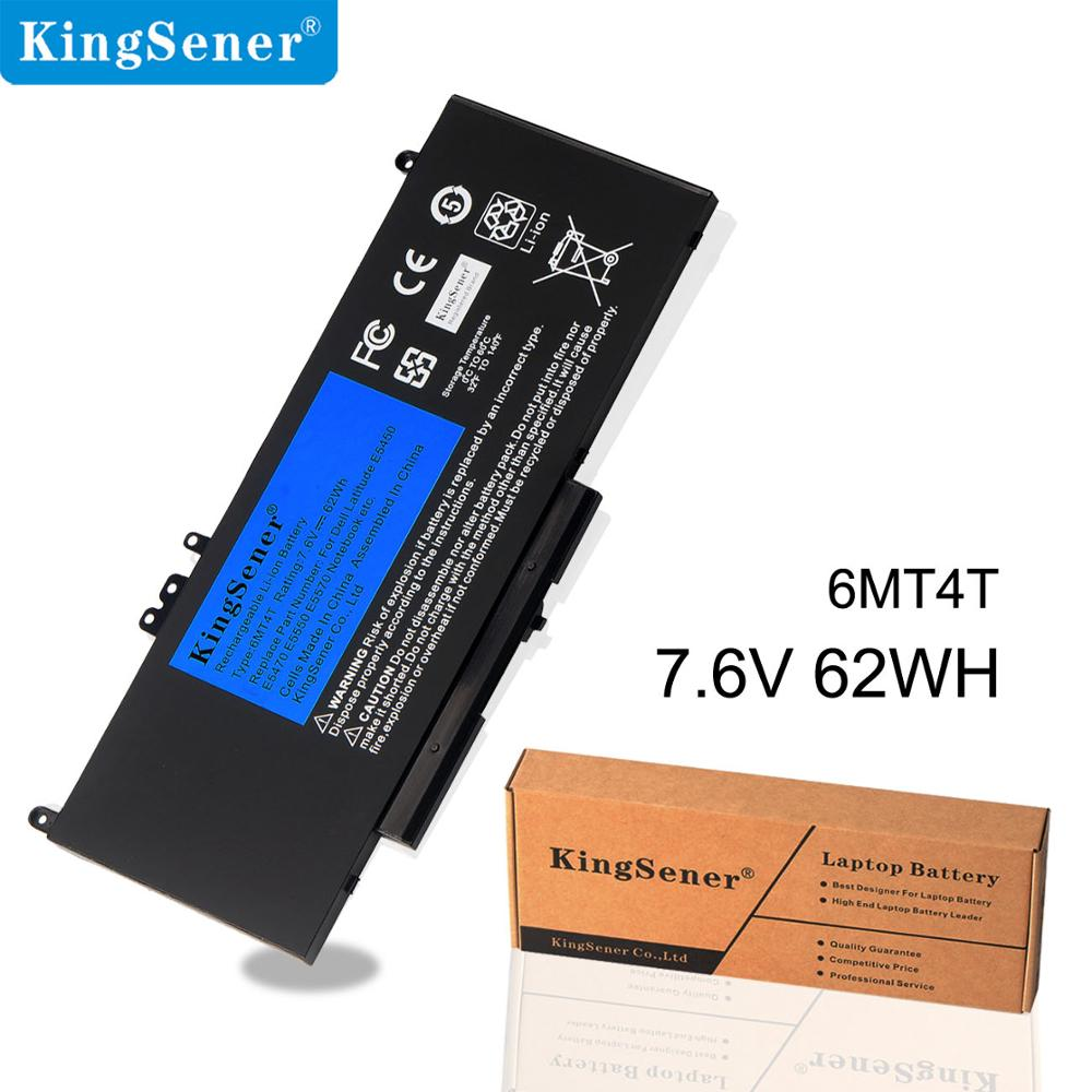 KingSener 6MT4T Replacement Battery For <font><b>Dell</b></font> <font><b>Latitude</b></font> <font><b>E5470</b></font> E5570 Series Precision M3510 79VRK 07V69Y TXF9M 7.6V 62WH 4 Cells image
