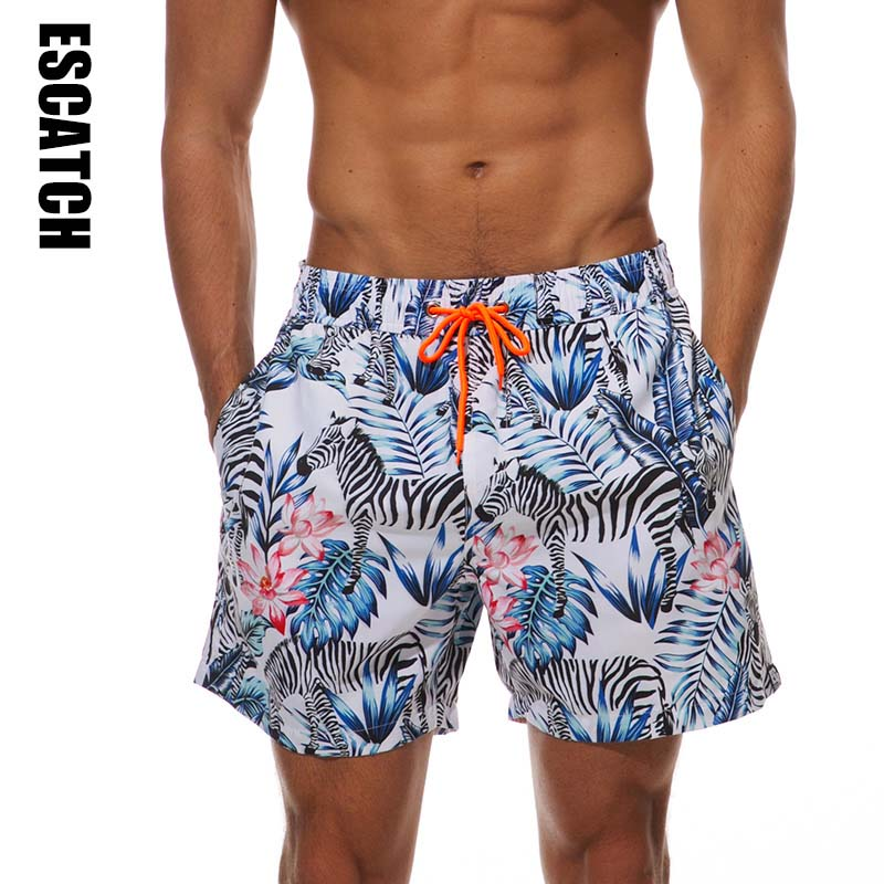 2019 Escatch Brand Quick Drying Board Shorts Trunks Mens Beach Short Bermuda MasculinaDe Marca Homme Shorts