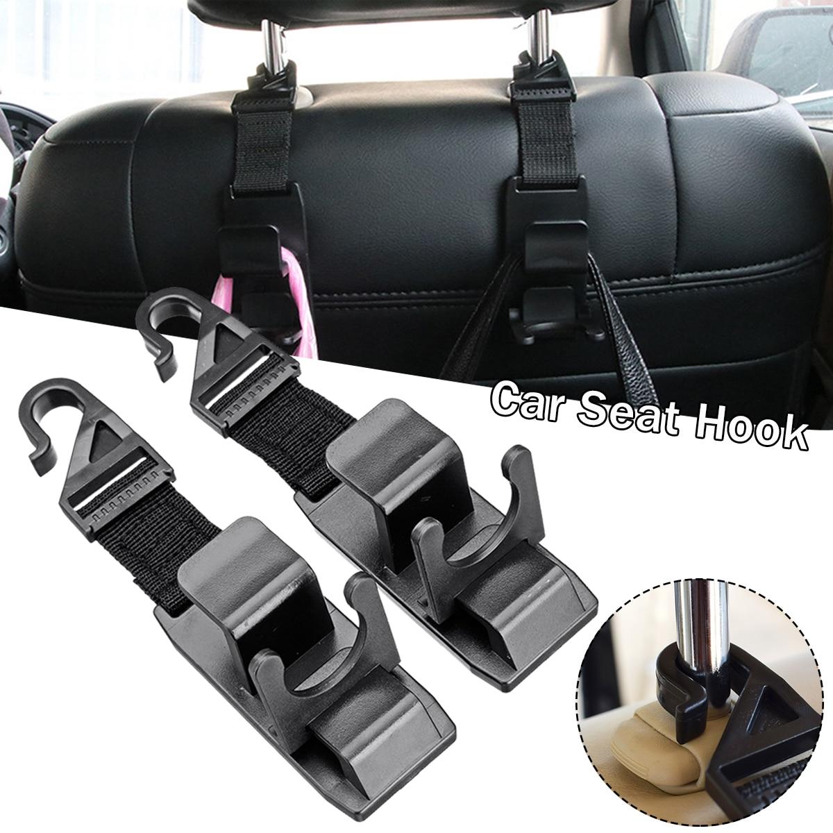 2 pièces Auto siège de voiture camion manteau crochet sac à main sac cintre suspendu support organisateur