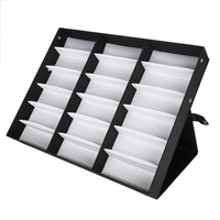 Makeup Tool Kits 18 Grids Glasses Display Case Sunglasses Storage Boxes Organizer Glasses Jewelry Display Box