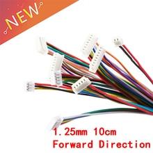 5 шт. XH 1,25 провода кабельный разъем DIY JST 2/3/4/5/6/7/8/9/10Pin электронная линия двойной разъем терминала 28AWG 10 см