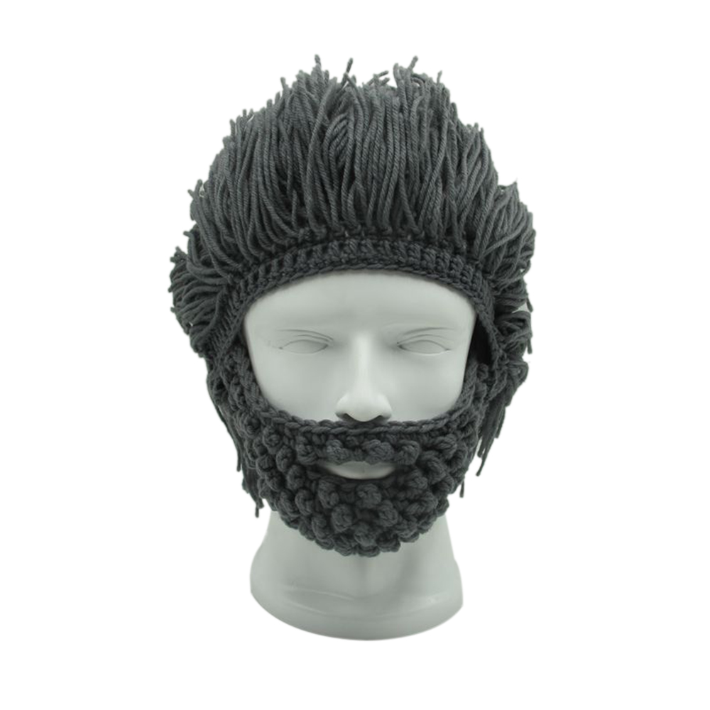 Purposeful Cool Gift Wig Beard Men's Hats Hobo Mad Scientist Caveman Handmade Knit Warm Winter Caps Men Women Hallowee Funny Party Beanies