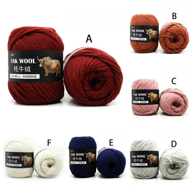 500g Yak Wool Cashmere Scarves Hat Worsted Yarn Wool Hand-knitted Knit Crochet Medium Thick Jacket Vest Wool Thread