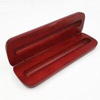 공장 직접 판매 레드 우드 펜 상자 나무 펜 포장 상자  단단한 펜 상자 편지지 상자