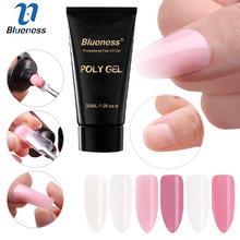 Blueness 30ml Nail Polygel Quick Builder Finger Extension Nail Camouflage Crystal Jelly 6 Colors LED UV Nail Gel Varnish