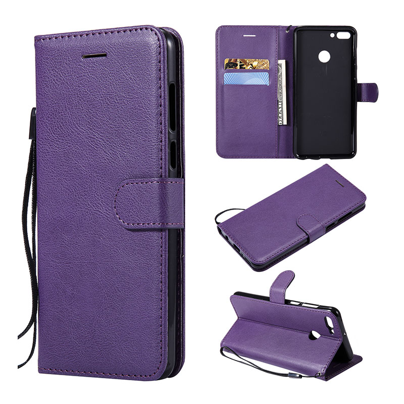100% Kwaliteit Luxe Retro Pu Leather Flip Wallet Case Voor Huawei Y9 2018 Y5 Y6 2018 P Smart Nova 3e Stand Card Slot Cover Voor Huawei Y6 Ii