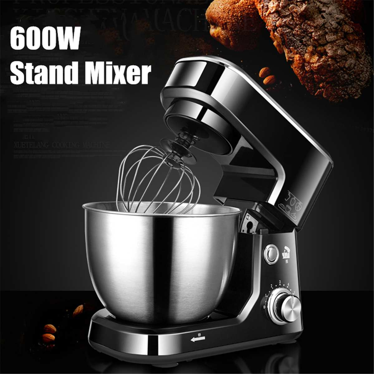 1200W 4L Bowl lift Stand Mixer Kitchen Stand High Power Food PMilkshake/Cake Dough Kneading Machine Blenders Home Smoothie Maker