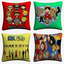 One Piece New World Full Characters Decorative Cotton Linen Cushion Cover 45x45cm For Sofa Chair Pillow Case Home Decor Almofada