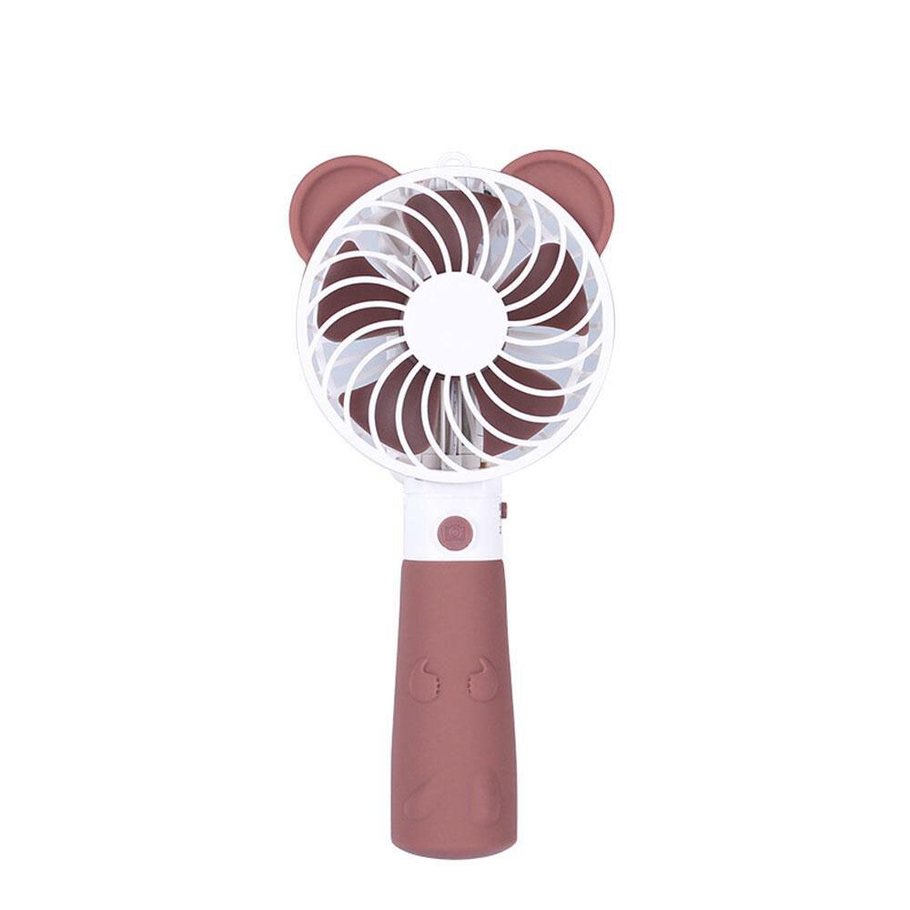 Le Mini Selfie tenu dans la main d'usb d'eas-Brown colle avec le ventilateur Rechargeable de refroidissement à l'air
