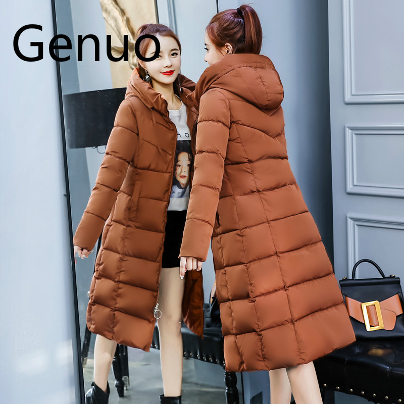 2019 winter jacket women hooded collar thicken warm long jacket female plus size 4XL outerwear   parka   ladies