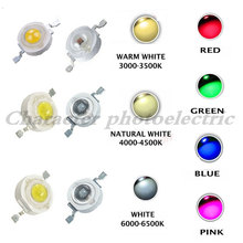 10-1000pcs 1W 3W High Power LED Light-Emitting Diode LEDs Chip SMD Warm White Red Green Blue Yellow For SpotLight Downlight Lamp(China)