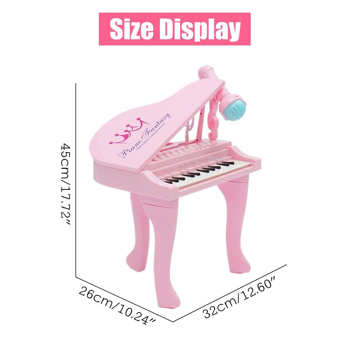 Électronique 25 touches clavier jouet orgue USB enfants Piano Microphone Instrument de musique jouant jouet ensemble rose/bleu enfants cadeaux - 4