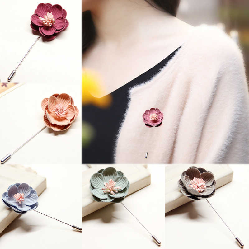 Daisy Flower Brooch Pin Costume Jewelry Clothes Accessories Wedding Bridal Jewelry Brooches hijab Broches Mujer pins for Man