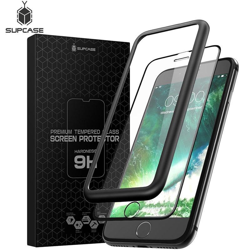 Für Iphone 7/8 Plus 5,5 supcase Anti-scratch Premium 3d Gebogene Rand Anti-auswirkungen Gehärtetem Glas Bildschirm Protector Mit Guide Rahmen Modische Muster Handybildschirm-schutz