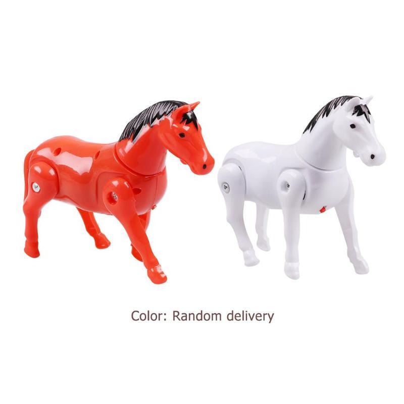 Children Walking Around Pile Horse Toys Kids Plastic Electric Rotating Horse Toy Electronic Rotate Walking Animals Toys Random
