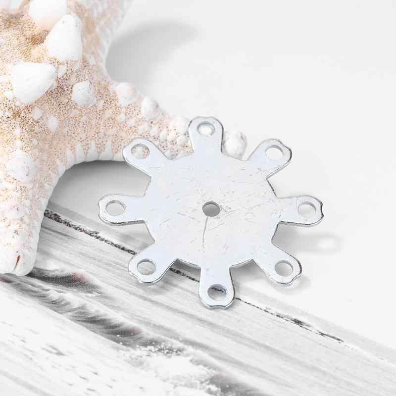 Plaque en acier inoxydable pratique pour bricolage carpe matériel de pêche Explosion gabarit crochets ensemble accessoires de pêche