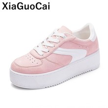 New Women Shoes Flat Platform 2019 Spring Autumn Woman Flats Lace Up Cute Casual Footwear High Quality Ladies Shoes Breathable цена