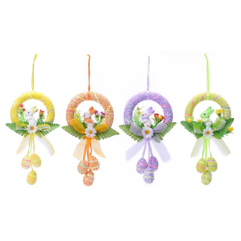 Fashion Easter Eggs Rabbit Dolls Children Toy DIY Hanging Ornaments Kids Birthday Kindergarten Party Decoration Crafts Gift