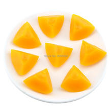 Gresorth 8 PCS Artificial Yellow Peach Slice Fake Fruits Slices Decoration Photography Props
