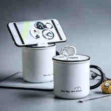 Креативная подставка кофейная кружка с крышкой ложка Офисная