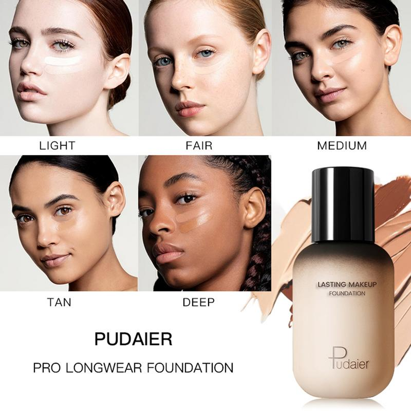 40ML Liquid Foundation BB Cream Cc Oil Control Base Face Concealer Cosmetic Waterproof Durable Women Face Foundation Makeup in BB CC Creams from Beauty Health
