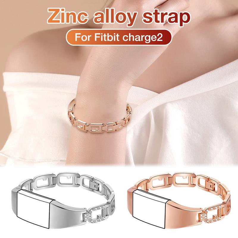 Image 4 - Zinc Alloy Watchband Smart Watch Bracelet Durable Scratch Resistant Adjustable Wristband Bracelet With Diamond Large Ring Strap-in Smart Watches from Consumer Electronics
