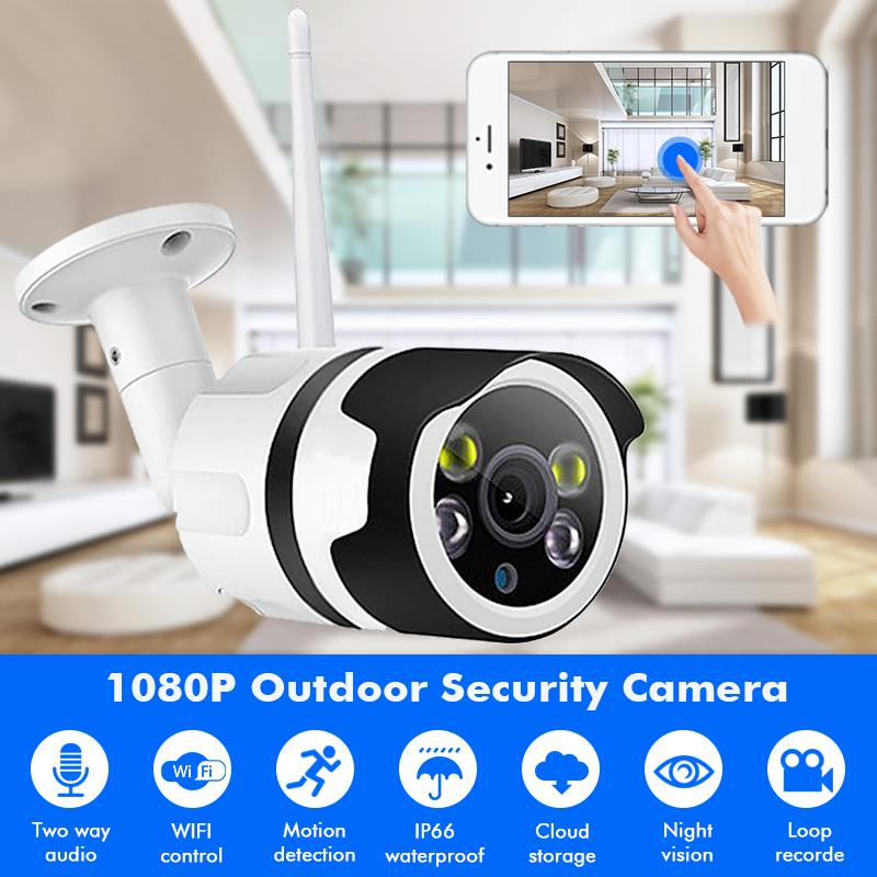 3.6mm Security IP Camera Outdoor HD 1080P 200W Wireless Video Surveillance Camera Night Version Cam Two-Way Audio Waterproof3.6mm Security IP Camera Outdoor HD 1080P 200W Wireless Video Surveillance Camera Night Version Cam Two-Way Audio Waterproof