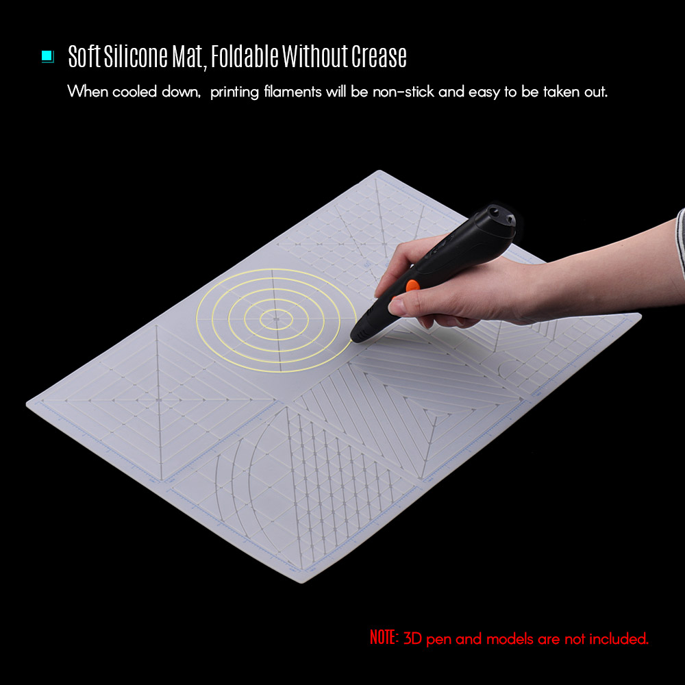 Mat Template Copy-Board Printing-Pen Multi-Purpose Soft-Silicone 3D with Fingerstalls