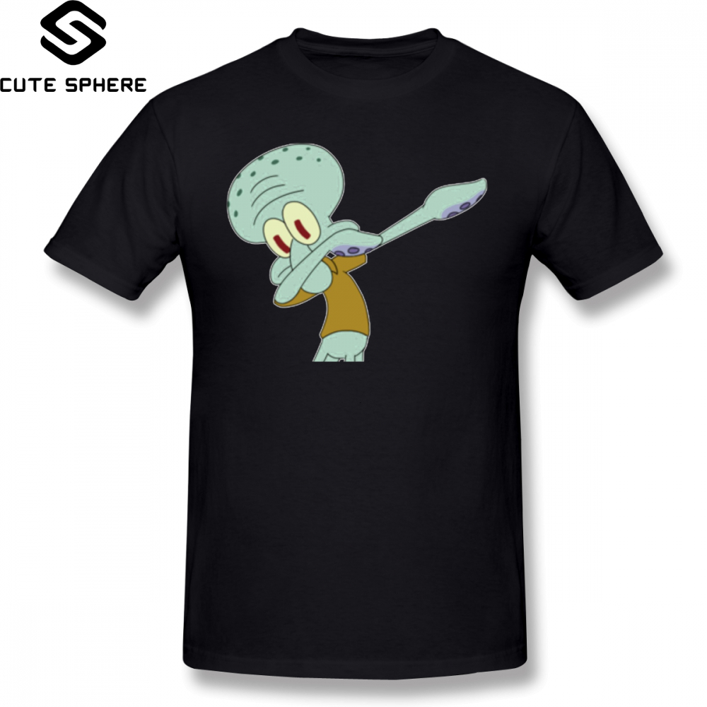83c63314538 Squidward T Shirt Squidward Dab T-Shirt 100 Cotton Short Sleeve Tee Shirt  XXX Cute Male Print Beach Tshirt