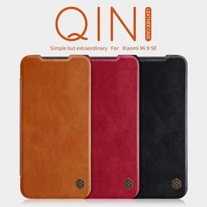 Image 2 - Para Xiaomi mi 9 SE casos wake up inteligente Nillkin Qin Série wallet Virar capa de Couro caso capa protetora para Xiaomi mi9 SE caso