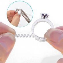 DIY затягиватель редуктор ювелирных частей защита прозрачного пружинного веревочного кольца Размер регулятора инструменты для изменения размера винтажный на спиральной основе