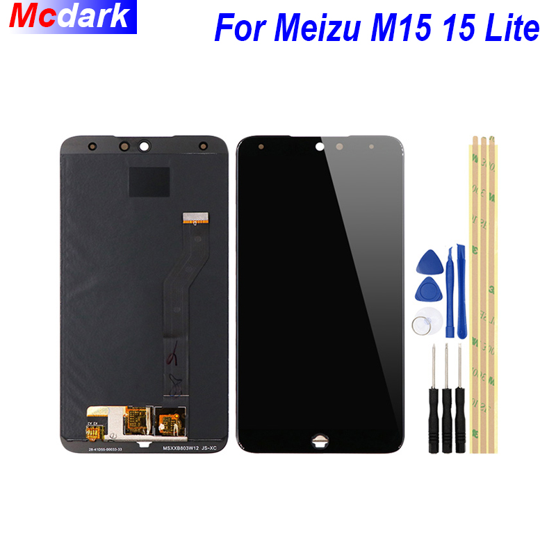Mcdark For Meizu Meilan 15 M15 15 Lite LCD Display and Touch Screen  Digitizer Assembly Replacement +Tools And Adhesive
