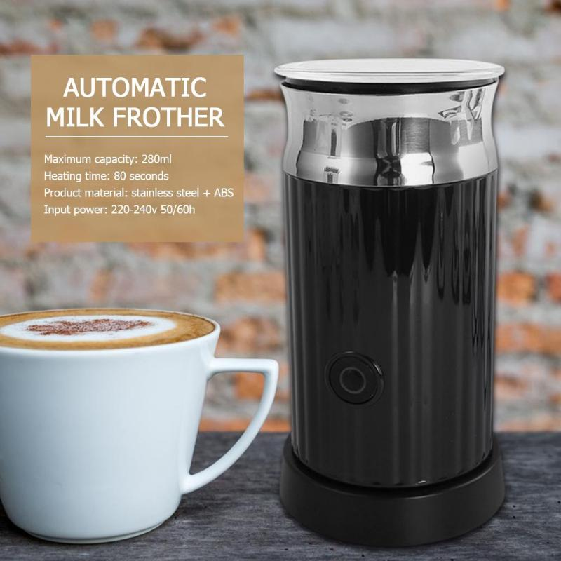 Automatic Milk Frother Milk Steamer Soft Foam Cappuccino Coffee Maker Household Electric Coffee Machine EU PlugAutomatic Milk Frother Milk Steamer Soft Foam Cappuccino Coffee Maker Household Electric Coffee Machine EU Plug