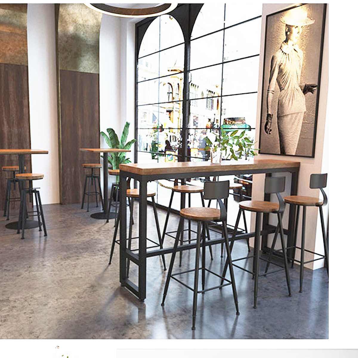Современный барный стул промышленный Вертлюг Кухня стул домашний декор для стола деревянный верх из металла со спинкой барные стулья