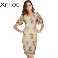 5ceacf8c778 Xnxee Sexy Womens Clothing Sequin Kate Middleton Dress Vestidos Mujer Summer  Dresses Plus Size Party Jurken