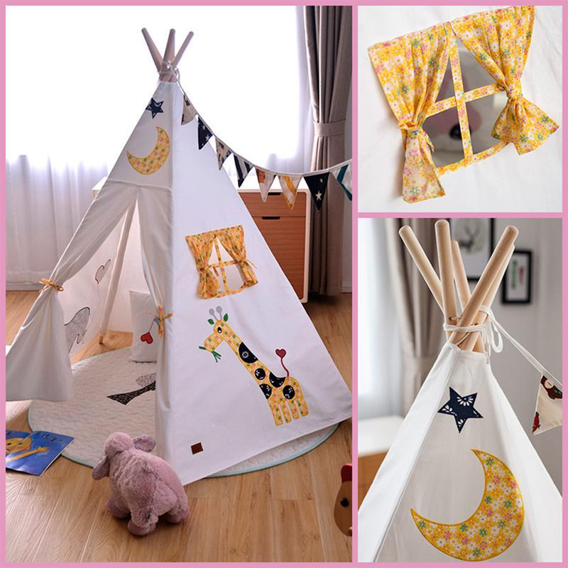 Princesse maison tente enfant cinq pièces brodées Super jeu maison bébé escalade tente indienne cadeau enfant
