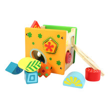 1PC Geometric Wooden Educational Shape Sorter Toys Intelligence Box Eductional Toys Building Blocks for Children Toddlers Kids(China)
