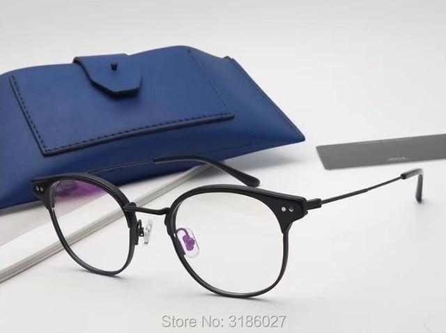 Gentle Brand Designer Retro Fashion Glasses Metal Acetate Frame  2