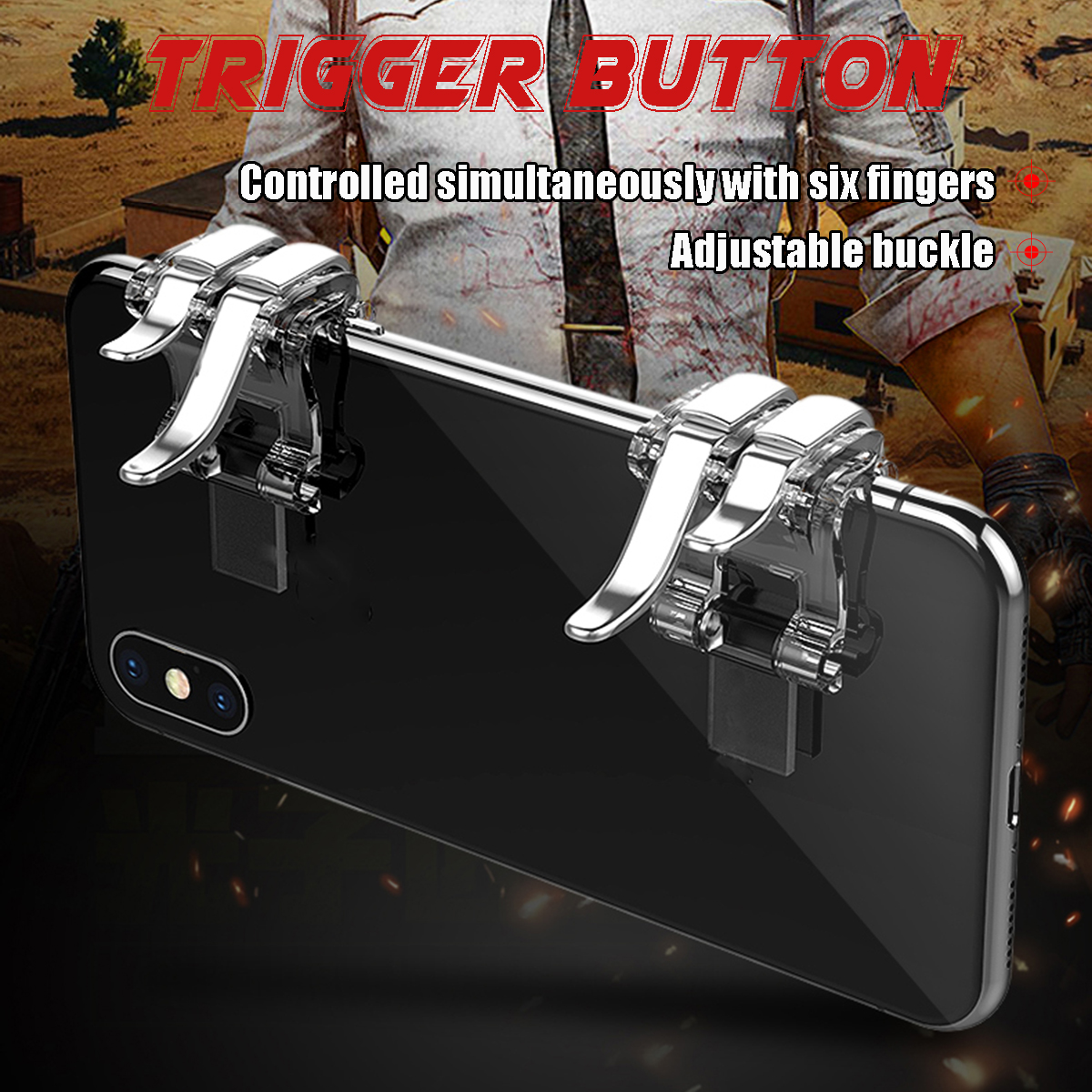 Mobile Phone Joystick Gamepad Gamer Controller Trigger Button For PUBG Mobile Smartphone Tablet
