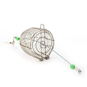 Image 3 - 야외 낚시 작은 스테인레스 스틸 와이어 물고기 미끼 트랩 바구니 낚시 태클 미끼 케이지